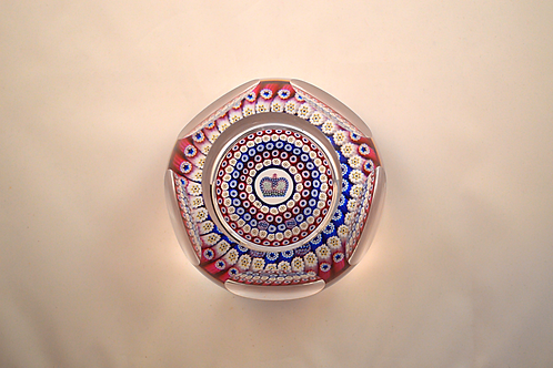 Whitefriars Pre-production Trial Concentric Coronation Paperweight
