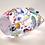 Thumbnail: Miniature Ray Annenberg Millefiori Chips Glass Owl