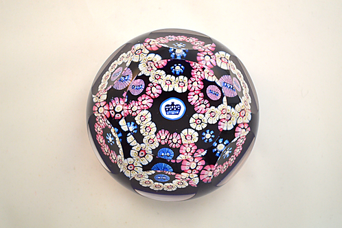 Whitefriars Pre-production Trial Garland Coronation Paperweight