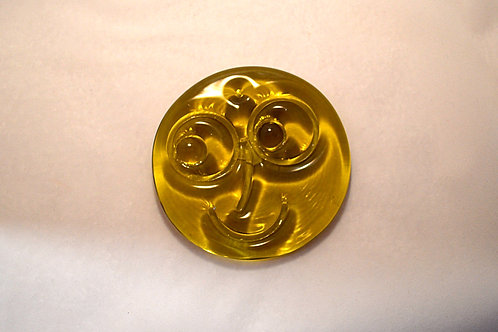 Very Rare Whitefriars Glass Smiley Face Sunspot Slab