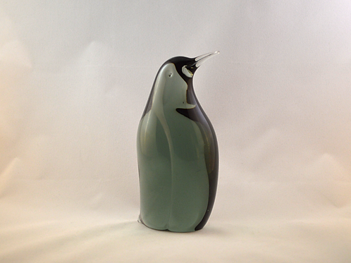 Whitefriars Art Glass Penguin by Boffo in Ocean Green
