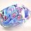 Thumbnail: Large Ray Annenberg Millefiori Glass Streaky Owl