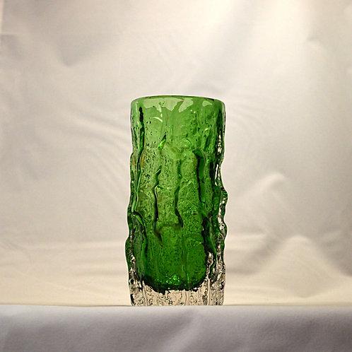 "Whitefriars 6"" Bark Vase in Meadow Green"