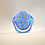 """Thumbnail: Rare Whitefriars """"Smithsonian Clichy Rose"""" Miniature Paperweight with Daffodils"""