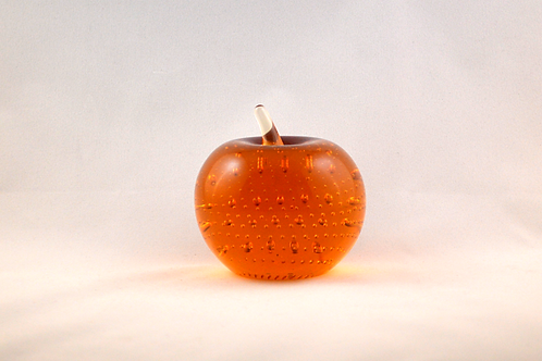 Whitefriars 1980 Apple Paperweight in Gold
