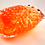 Thumbnail: Ray Annenberg Art Glass Bubbled Owl in Tangerine
