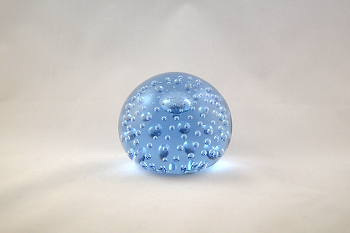 Large Whitefriars Bubble Paperweight in Sapphire Blue