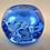 Thumbnail: Rare Whitefriars 1980 FLC SKY BLUE Knobbly Candle Holder