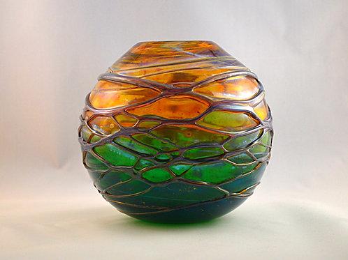 Rare Experimental Whitefriars Design Trial Peacock Studio Range Vase