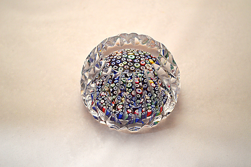 Whitefriars Mitre Cut Millefiori Paperweight