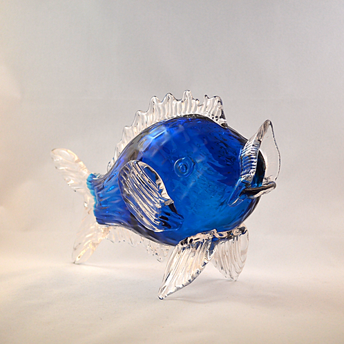 "Rare Whitefriars Fish by Boffo in ""Best Blue"""