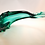 Thumbnail: Whitefriars Glass Footed Swan in Aqua