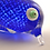Thumbnail: Ray Annenberg Art Glass Bubbled Penguin in Cased Blue