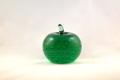 Whitefriars 1980 Apple Paperweight in Aqua