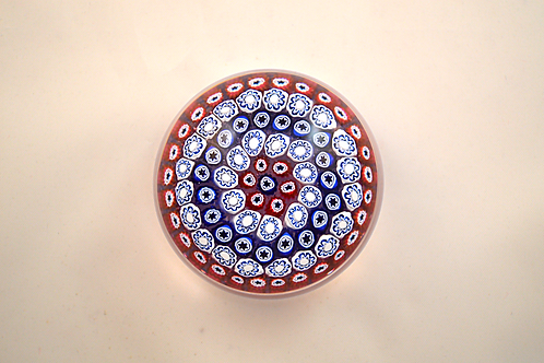 Miniature Whitefriars Pre-production Trial Early Concentric Paperweight