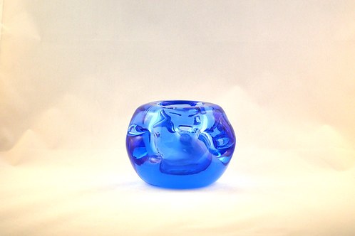 Rare Whitefriars 1980 FLC SKY BLUE Knobbly Candle Holder
