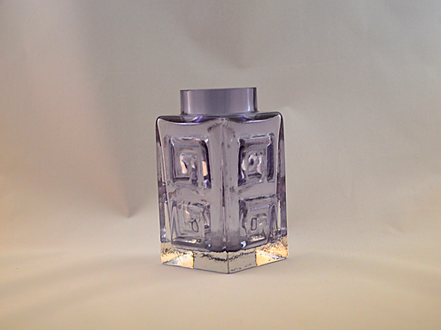 Whitefriars Small Greek Key Vase in Lilac