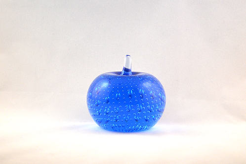 Whitefriars 1980 Apple Paperweight in Sky Blue
