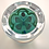 Thumbnail: Rare Pre-production Trial Butterfly Clichy Rose Paperweight on Green