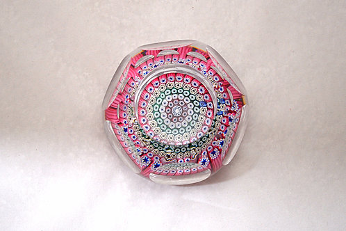 Whitefriars Millefiori Paperweight with Small Ball Cuts