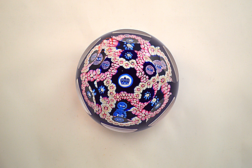"""Whitefriars Pre-production 2.5"""" Trial Garland Coronation Paperweight"""
