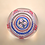 Thumbnail: Whitefriars Pre-production Trial USA 3 Flags Paperweight