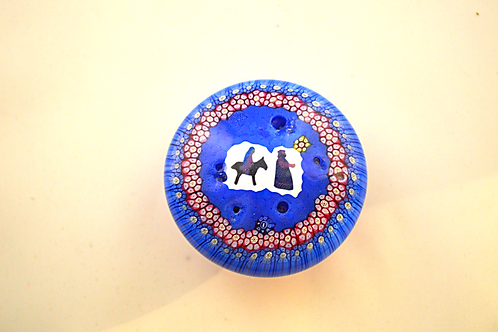 Whitefriars Pre-production Trial Mary & Joseph Xmas Paperweight Mill
