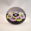 Thumbnail: Lovely Whitefriars Design Trial Garland Paperweight on Dark Blue