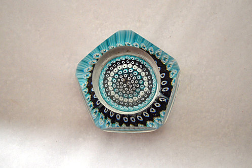 Unusual Whitefriars Early Millefiori Paperweight