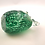 Thumbnail: Ray Annenberg Art Glass Tiny Bubbled Owl in Green