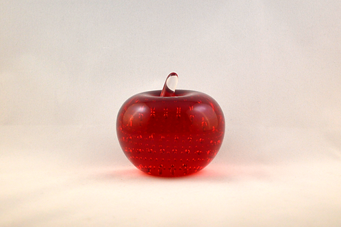 Whitefriars 1980 Apple Paperweight in Ruby