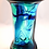 Thumbnail: Rare Experimental Whitefriars Trial Aqua with Sky Blue Streaking Knobbly Vase