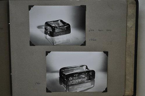Super Rare Whitefriars Pen Holder Set in Ocean Green 1360 & 1361
