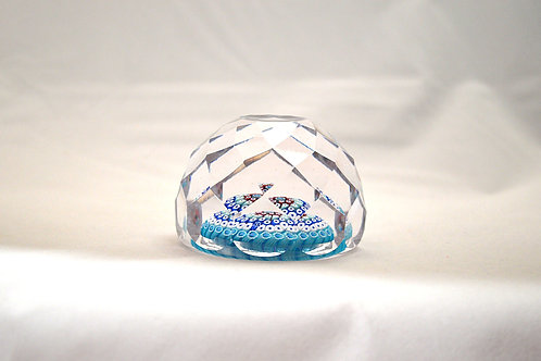 Whitefriars Early Diamond Cut Paperweight