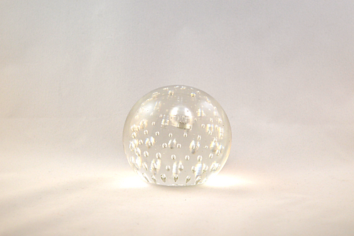 Whitefriars Bubble Paperweight in Flint