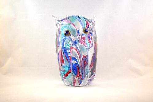 Huge Ray Annenberg Millefiori Glass Streaky Owl
