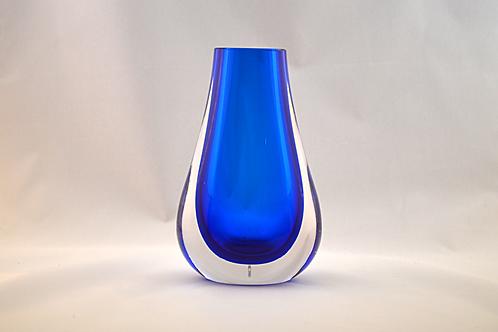 Whitefriars Hambone Vase in Cased Blue