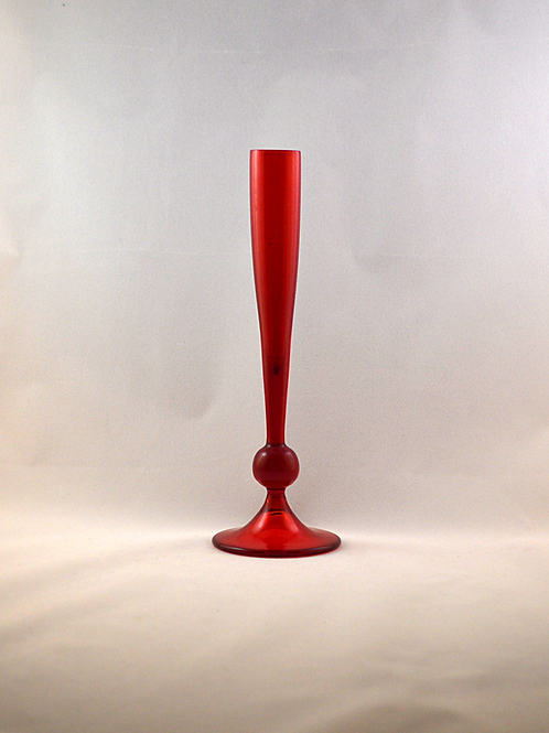 Whitefriars Knopped Bud Vase in Ruby