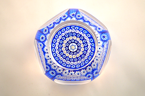 Whitefriars Pre-production Trial Star of David Paperweight