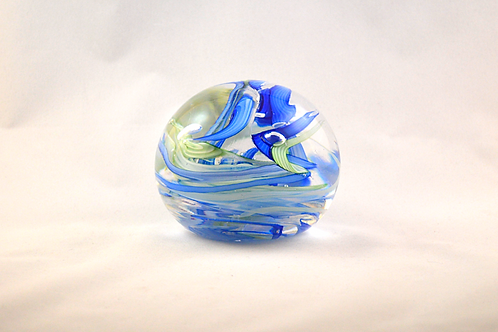 Whitefriars Swirly Controlled Bubbles Paperweight