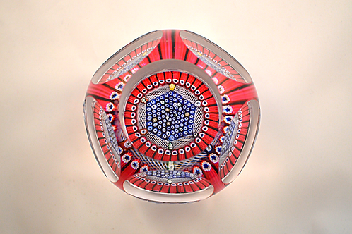 "Unusual Whitefriars Design Trial ""Hexagonal Lace Twist"" Paperweight"