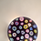 Thumbnail: Rare Whitefriars Experimental Design Purple Ground Spaced Millefiori Paperweight