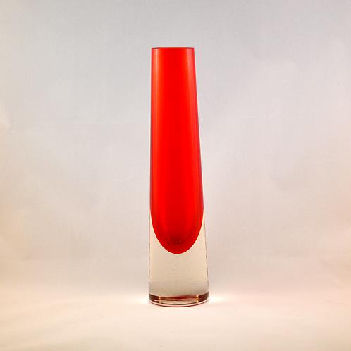 Whitefriars Chimney Vase in Ruby