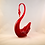 Thumbnail: Whitefriars Glass Footed Swan in Ruby