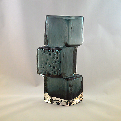 Whitefriars Drunken Bricklayer Glass Vase In Indigo