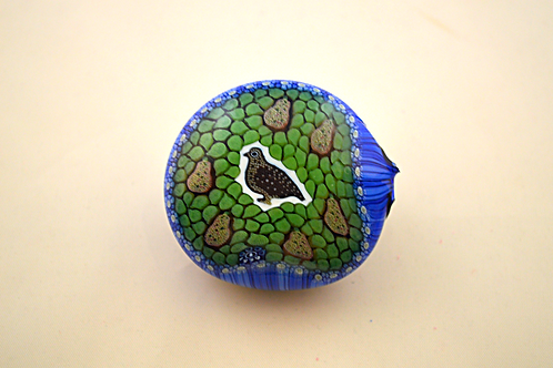 Whitefriars Pre-production Trial Partridge in a Pear Tree Millefiori Button Base