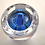 Thumbnail: Rare Pre-production Trial Large Owl Paperweight on Light Blue