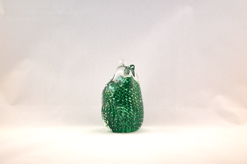 Ray Annenberg Art Glass Tiny Bubbled Owl in Green
