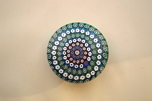 Whitefriars Pre-production Trial Concentric Millefiori Button Base
