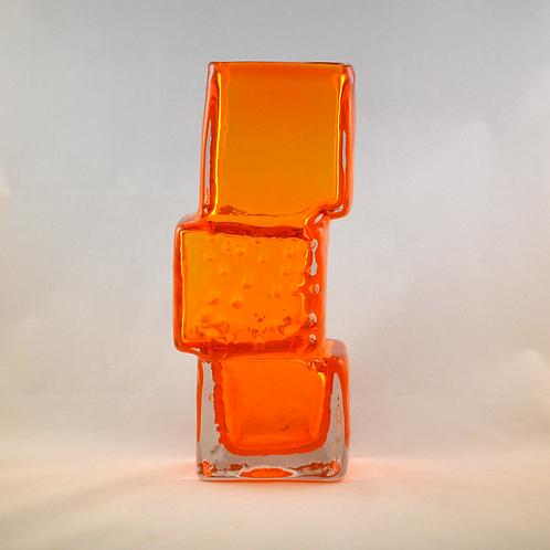 Whitefriars Drunken Bricklayer Vase in Tangerine